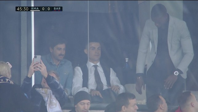Cristiano Ronaldo เฝ้าดูเรอัลมาดริด